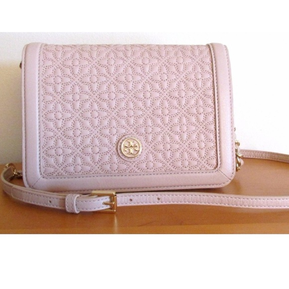 ace91762fe6a Tory Burch Quilted Combo Crossbody - Light Oak